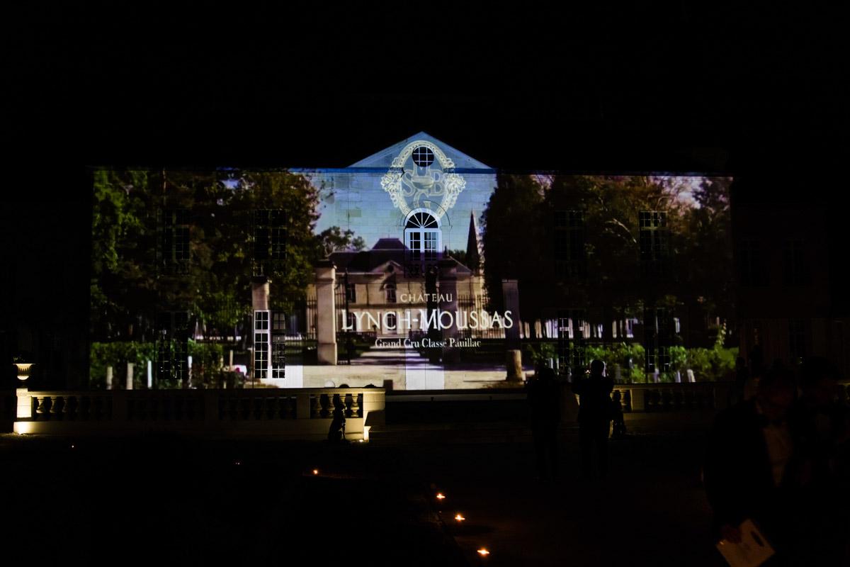 Mapping vidéo château Lynch Moussas - Fête du vin Bordeaux 2
