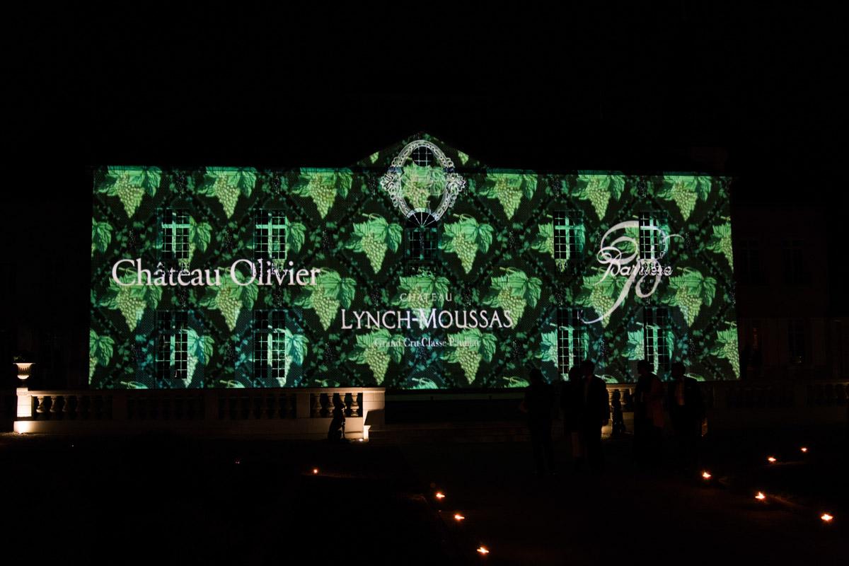 Mapping vidéo château Lynch Moussas - Fête du vin Bordeaux 3