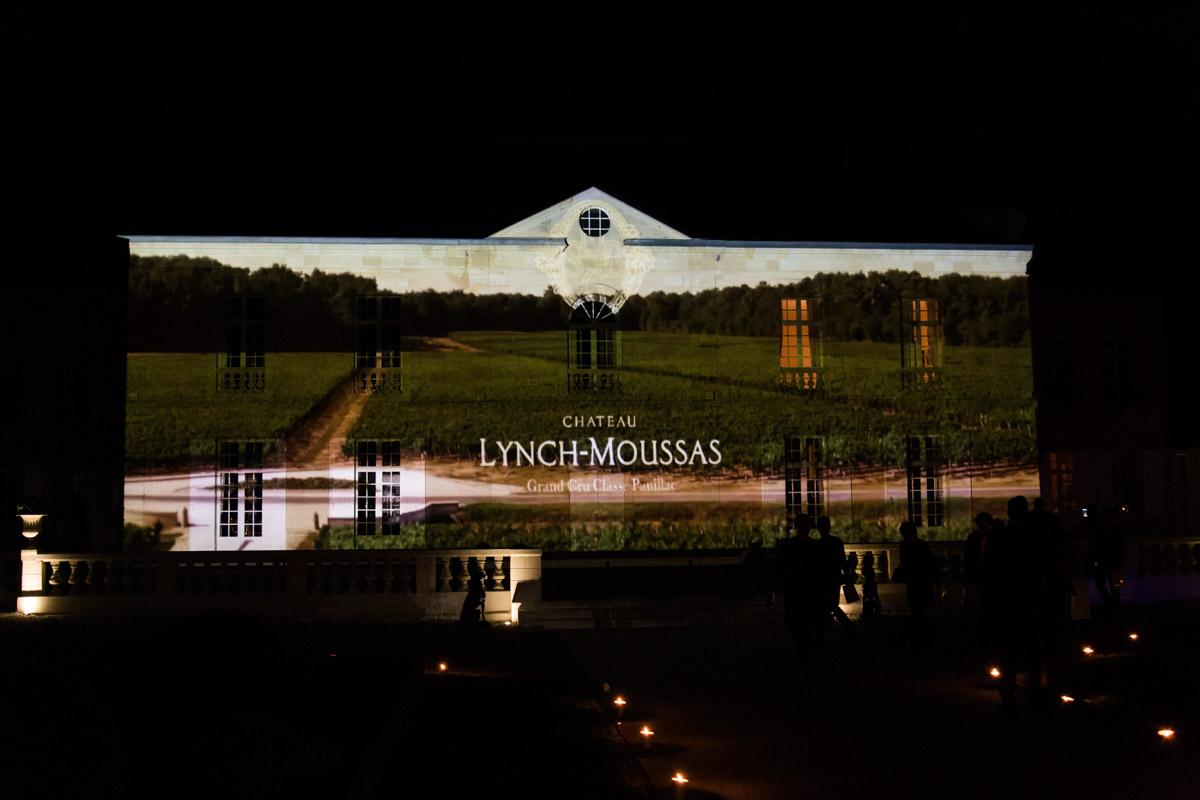 Mapping vidéo château Lynch Moussas - Fête du vin Bordeaux 4