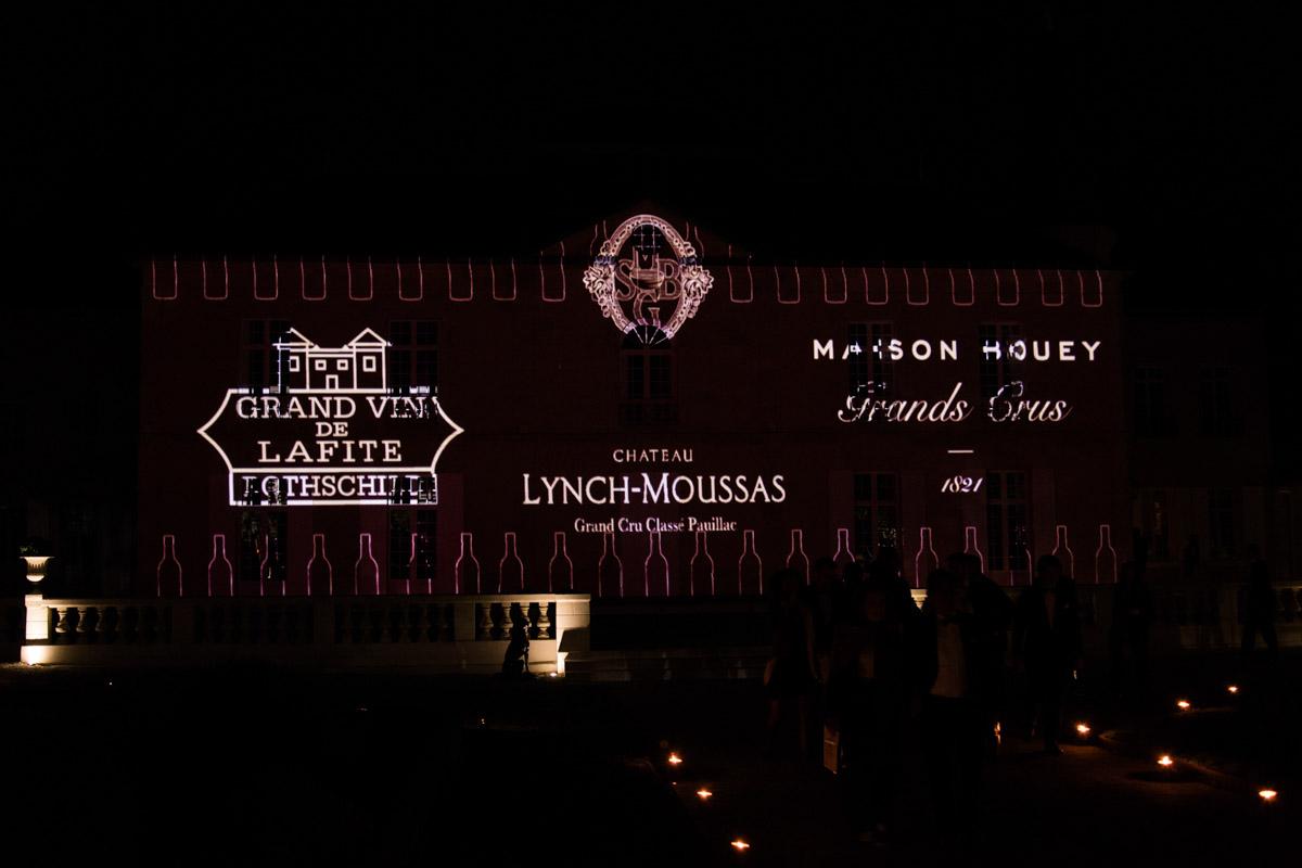 Mapping vidéo château Lynch Moussas - Fête du vin Bordeaux